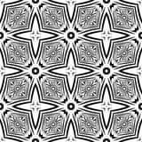 Teste padrão de repetição sem emenda preto e branco do vetor Foto de Stock