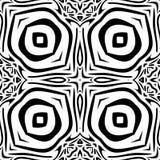 Teste padrão de repetição sem emenda preto e branco do vetor Imagens de Stock