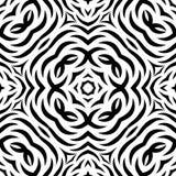 Teste padrão de repetição sem emenda preto e branco do vetor Foto de Stock Royalty Free