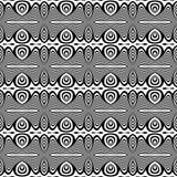Teste padrão de repetição sem emenda preto e branco do vetor Colorido, ideia fotografia de stock