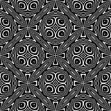 Teste padrão de repetição sem emenda preto e branco do vetor Colorido, ideia fotos de stock