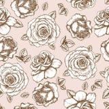 Teste padrão de Rosa ilustração royalty free