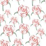 Teste padrão de Rosa Ilustração do Vetor