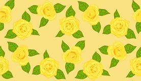 Teste padrão de Rosa amarela Fotos de Stock