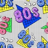 teste padrão de 80s Memphis fotografia de stock