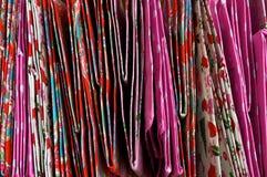 Teste padrão de sacos dobrados fotografia de stock