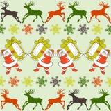 Teste padrão de Santa Claus dos desenhos animados ilustração stock
