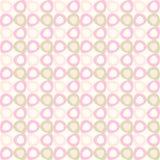 Teste padrão de Seamles com ovals cor-de-rosa e verde-oliva Ilustração Stock
