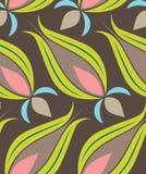 Teste padrão de Seamsless do Tulip do otomano Fotografia de Stock Royalty Free