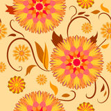 Teste padrão de Semaless de flores decorativas Foto de Stock Royalty Free