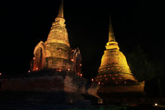 Teste padrão de Sukothai do pagode Fotografia de Stock