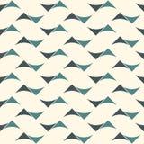 Teste padrão de superfície sem emenda com ondas abstratas Cópia contemporânea com formulários geométricos Ornamento moderno com t ilustração royalty free