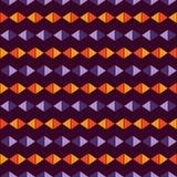 Teste padrão de superfície sem emenda em cores tradicionais de Dia das Bruxas com diamantes e ornamento dos triângulos Linhas rho Fotografia de Stock Royalty Free