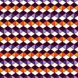 Teste padrão de superfície sem emenda em cores tradicionais de Dia das Bruxas com diamantes e ornamento dos triângulos Linhas rho Foto de Stock Royalty Free