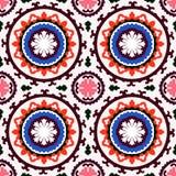 Teste padrão de Suzani Imagens de Stock Royalty Free