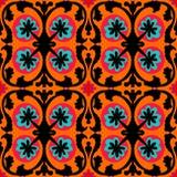 Teste padrão de Suzani com motivos do Uzbeque e do Cazaque Fotografia de Stock Royalty Free