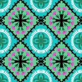 Teste padrão de Suzani com motivos do Uzbeque e do Cazaque Imagem de Stock