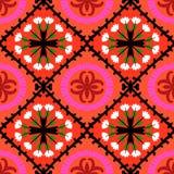 Teste padrão de Suzani com motivos do Uzbeque e do Cazaque Foto de Stock Royalty Free