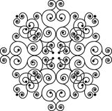 Teste padrão de Swirly imagem de stock royalty free