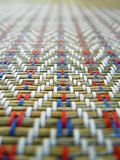 Teste padrão de tecelagem Imagens de Stock