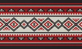 Teste padrão de tecelagem da mão árabe tradicional de Sadu dos povos ilustração stock