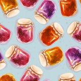 Teste padrão de Tileable de doce-frascos diferentes Fotografia de Stock Royalty Free