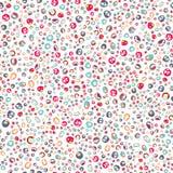 Teste padrão de 12 tipos dos pontos, tamanho diferente, multicolorido Fotografia de Stock Royalty Free