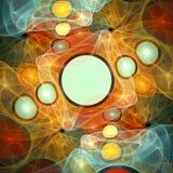 Teste padrão de uma grade e de umas esferas multi-coloridas. Fotos de Stock
