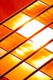 Teste padrão de vidro dourado fotos de stock