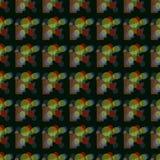 Teste padrão de vidro sem emenda no preto imagem de stock