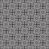 Teste padrão de vime abstrato Teste padrão sem emenda do vetor preto e branco Imagem de Stock