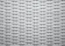 Teste padrão de vime branco Imagens de Stock