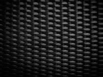 Teste padrão de vime preto Imagens de Stock Royalty Free