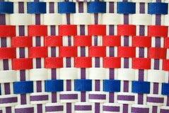 Teste padrão de weave de cesta colorido Fotos de Stock Royalty Free