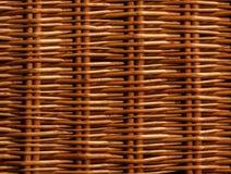 Teste padrão de weave de cesta de Brown Imagens de Stock