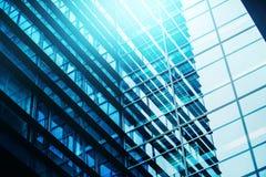 Teste padrão de Windows Repeative da construção de escritório para negócios de Moden Foto de Stock