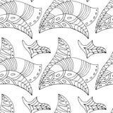 Teste padrão de Zentangle Fotos de Stock Royalty Free