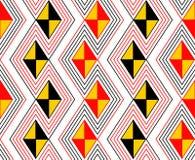 Teste padrão de ziguezague da cor do perigo Imagens de Stock Royalty Free