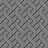 Teste padrão de ziguezague monocromático sem emenda do projeto ilustração stock