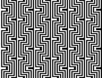 Teste padrão de ziguezague monocromático sem emenda do projeto Foto de Stock Royalty Free