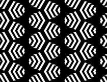 Teste padrão de ziguezague monocromático sem emenda do projeto Imagem de Stock Royalty Free