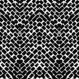 Teste padrão de ziguezague pintado à mão preto e branco Imagens de Stock Royalty Free