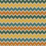 Teste padrão de ziguezague sem emenda do vintage em cores reconfortantes Fotografia de Stock Royalty Free