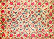 Teste padrão decorativo árabe oriental do bordado fotografia de stock