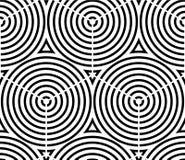 Teste padrão decorativo ótico sem emenda com geome tridimensional ilustração stock