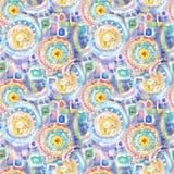Teste padrão decorativo acrílico sem emenda abstrato Textura sem emenda no estilo do impressionismo para a Web, cópia, envoltório ilustração stock