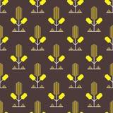 Teste padrão decorativo amarelo Imagens de Stock