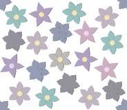 Teste padrão decorativo com flores à moda Imagens de Stock