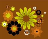 Teste padrão decorativo com flores Fotografia de Stock
