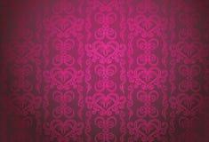 Teste padrão decorativo cor-de-rosa luxuoso ilustração do vetor